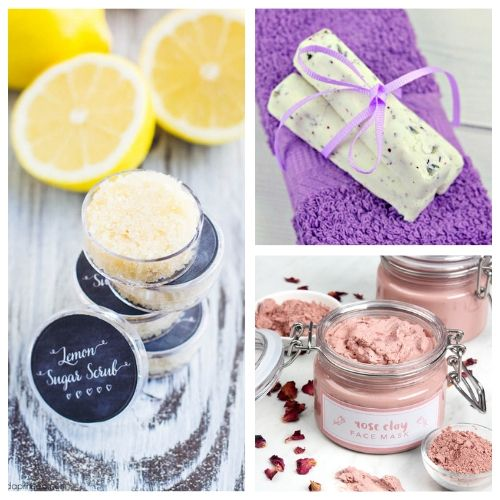 20 DIY Spa Day At Home Ideas- You can have a luxurious DIY spa day at home with these budget-friendly DIY beauty products and beauty ideas! You'll be relaxed (and looking beautiful) in no time! | homemade beauty products, DIY beauty products, sugar scrub, bath salts, body butter, #spaDay #spaDayAtHome #DIY #homemadeBeautyProducts #ACultivatedNest