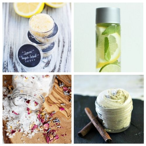 DIY Beauty Product Recipes for Your Spa Day- You can have a luxurious DIY spa day at home with these budget-friendly DIY beauty products and beauty ideas! You'll be relaxed (and looking beautiful) in no time! | homemade beauty products, DIY beauty products, sugar scrub, bath salts, body butter, #spaDay #spaDayAtHome #DIY #homemadeBeautyProducts #ACultivatedNest