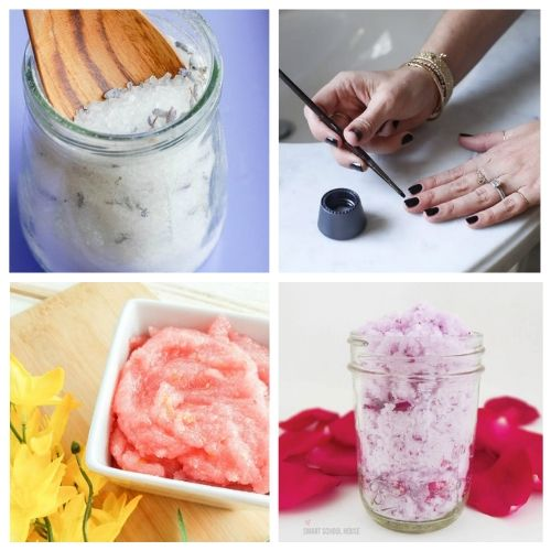 20 Luxurious Spa Day at Home Ideas- You can have a luxurious DIY spa day at home with these budget-friendly DIY beauty products and beauty ideas! You'll be relaxed (and looking beautiful) in no time! | homemade beauty products, DIY beauty products, sugar scrub, bath salts, body butter, #spaDay #spaDayAtHome #DIY #homemadeBeautyProducts #ACultivatedNest