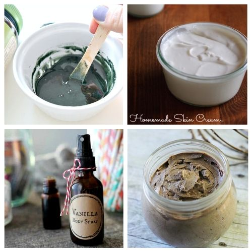 Spa Day DIY Gift Basket Ideas- You can have a luxurious DIY spa day at home with these budget-friendly DIY beauty products and beauty ideas! You'll be relaxed (and looking beautiful) in no time! | homemade beauty products, DIY beauty products, sugar scrub, bath salts, body butter, #spaDay #spaDayAtHome #DIY #homemadeBeautyProducts #ACultivatedNest