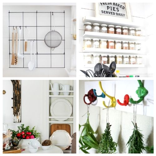 20 Genius Kitchen Storage Solutions You Can Make- If you want to add more storage to your kitchen on a budget, then you need to check out these 20 gorgeous DIY kitchen storage racks! | DIY coffee mug rack, DIY spice rack, DIY plate rack, #organization #organizingTips #DIY #kitchenOrganization #ACultivatedNest