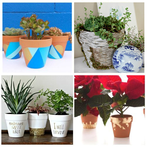 24 Beautiful DIY Clay Pots- Turn your terracotta pots from drab to fab with inspiration from these 24 gorgeous ways to decorate terracotta pots! You have to try these DIY terracotta pot makeovers! | how to paint terra cotta pots, how to update terra-cotta pots, #DIYProject #terracottaPots #flowerPots #craft #ACultivatedNest
