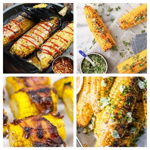 Grilled Corn on the Cob Recipes- You are going to want to try all of these mouthwatering corn on the cob recipes! They're easy to make, and are sure to be a hit addition to any meal! | Mexican corn recipe, grilled street corn, #cornOnTheCob #corn #recipe #sideDish #ACultivatedNest