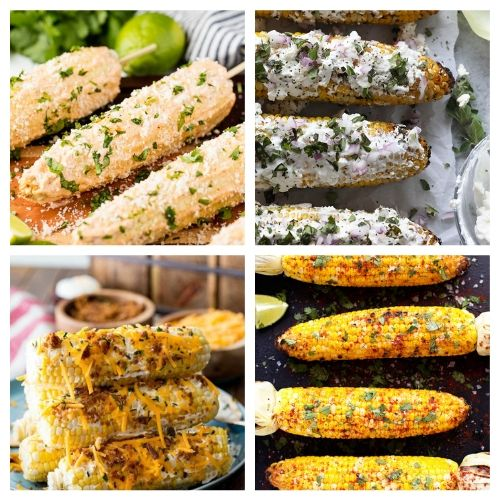 Cheesy Corn on the Cob Recipes- You are going to want to try all of these mouthwatering corn on the cob recipes! They're easy to make, and are sure to be a hit addition to any meal! | Mexican corn recipe, grilled street corn, #cornOnTheCob #corn #recipe #sideDish #ACultivatedNest