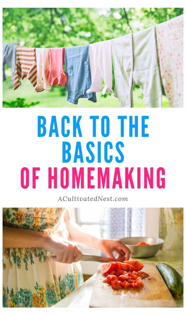Back to the Basics of Homemaking