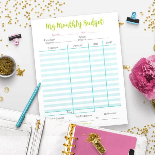 Printable Basic Budget Template