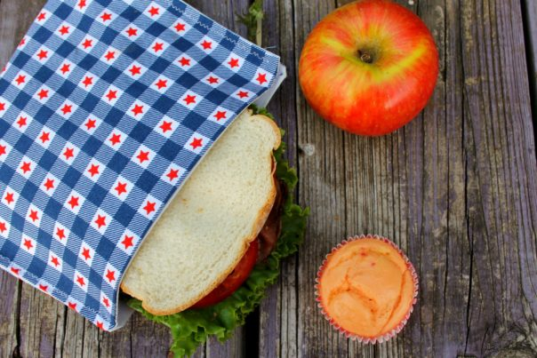 DIY Reusable Sandwich Bags- These DIY reusable sandwich bags are a super simple way to stop using plastic bags for your child's lunch. They're easy to make and very easy to clean! | #DIY #sewing #reusable #eco-friendly #ACultivatedNest