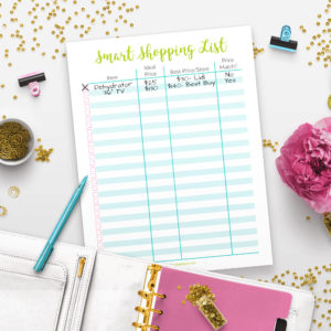 Printable Smart Shopping List