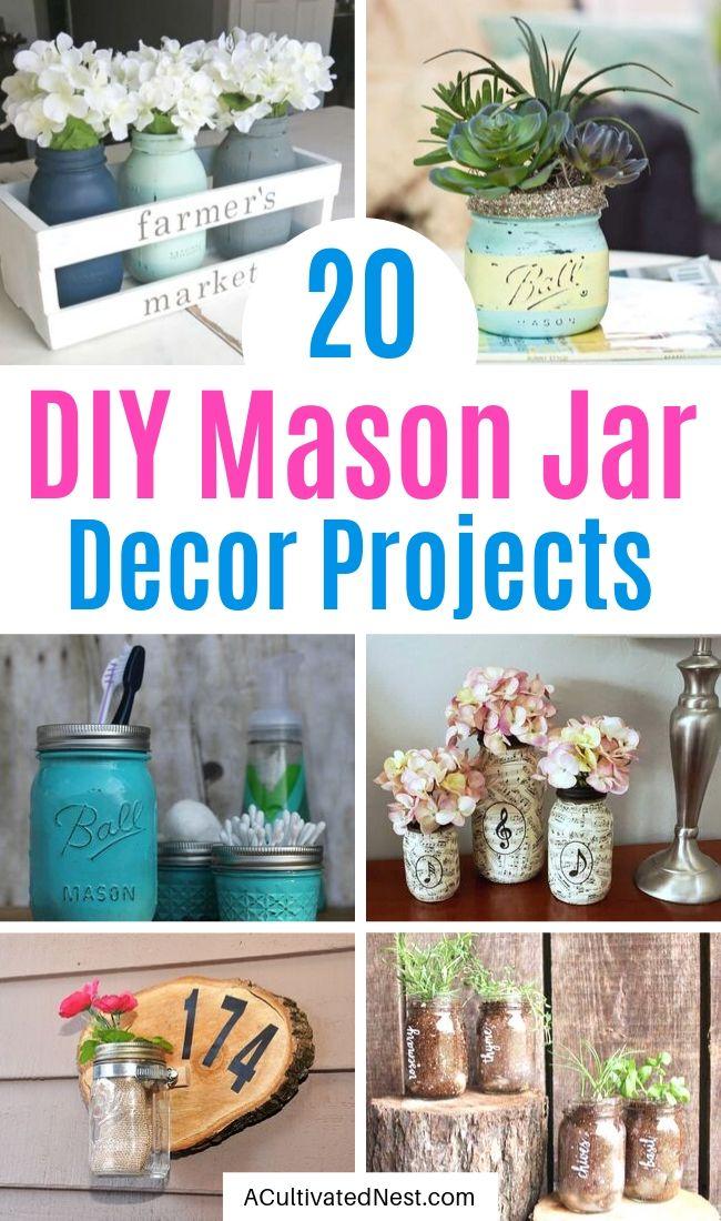 20 Creative DIY Mason Jar Decor Ideas
