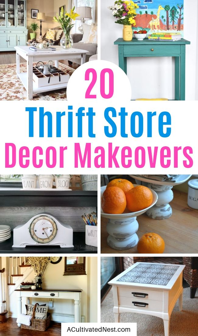 20 Fantastic Thrift Store Decor Makeovers