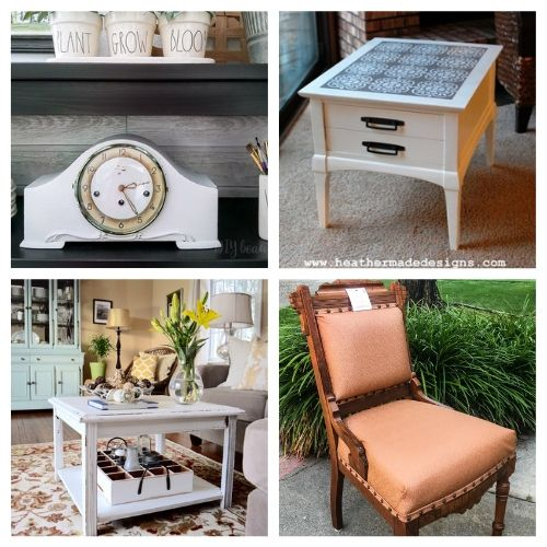 20 Fantastic Thrift Store Furniture Makeovers- Transform your space with these fantastic thrift store decor makeovers! The options are endless when it comes to upcycling furniture and other accessories! | #DIY #craft #thriftStoreMakeover #upcycle #ACultivatedNest
