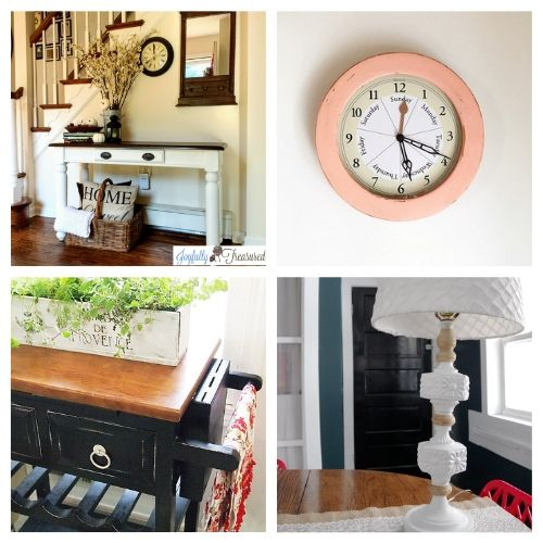 20 Fantastic Thrift Store Upcycle Projects- Transform your space with these fantastic thrift store decor makeovers! The options are endless when it comes to upcycling furniture and other accessories! | #DIY #craft #thriftStoreMakeover #upcycle #ACultivatedNest