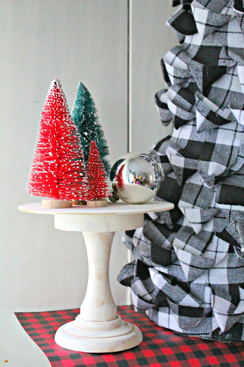 Cake Stand DIY Christmas Decor- You will love this easy DIY mini cake stand craft idea! It's positively lovely and can be used for all sorts of holidays and occasions. | #DIY #craft #ChristmasDecor #holidayDecor #ACultivatedNest