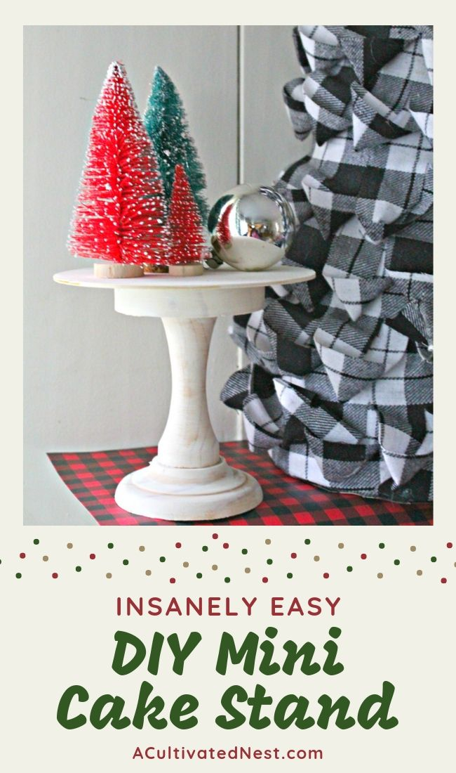 Insanely Easy DIY Mini Cake Stand
