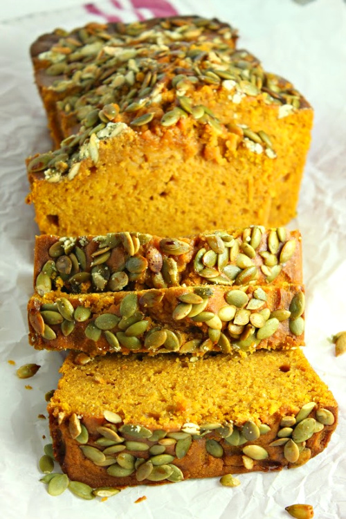 Starbucks Copycat Pumpkin Bread Recipe- This moist and delicious Starbucks pumpkin bread copycat recipe is very easy to make, and so delicious! This is one homemade bread recipe you have to try! | fall bread recipe, #recipe #baking #copyCatRecipe #Starbucks #ACultivatedNest
