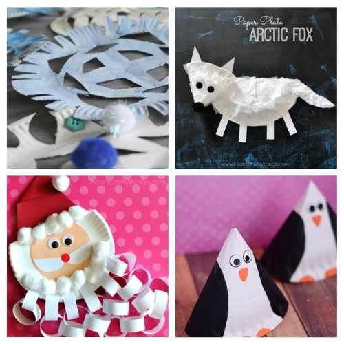 20 Adorable Winter Paper Plate Kids Crafts- Cure the winter blues with these creative and adorable paper plate winter crafts for kids. They will love putting together penguins, polar bears, and more! | #kidsCrafts #crafts #paperPlateCraft #winterCrafts #ACultivatedNest