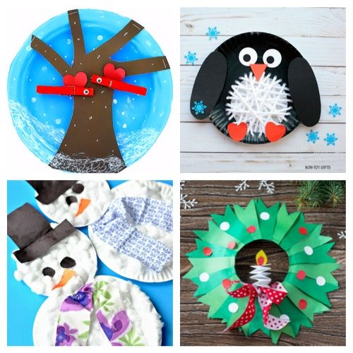 20 Adorable Holiday Paper Plate Crafts for Kids- Cure the winter blues with these creative and adorable paper plate winter crafts for kids. They will love putting together penguins, polar bears, and more! | #kidsCrafts #crafts #paperPlateCraft #winterCrafts #ACultivatedNest