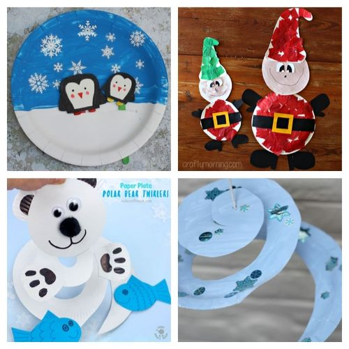 20 Adorable Christmas Paper Plate Crafts for Kids- Cure the winter blues with these creative and adorable paper plate winter crafts for kids. They will love putting together penguins, polar bears, and more! | #kidsCrafts #crafts #paperPlateCraft #winterCrafts #ACultivatedNest