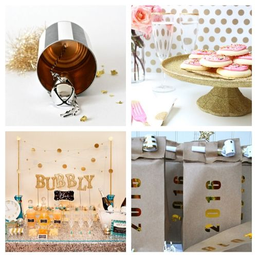 16 DIY New Year's Eve Decor and Party Supplies- Celebrate the new year with these brilliant New Year's Eve DIY ideas! You'll find everything you need to host a lovely event to remember! | #NewYearsEve #DIY #craft #NewYearsDecor #ACultivatedNest