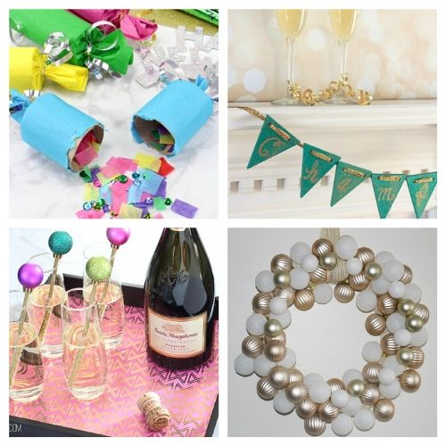16 New Year's Eve Crafts- Celebrate the new year with these brilliant New Year's Eve DIY ideas! You'll find everything you need to host a lovely event to remember! | #NewYearsEve #DIY #craft #NewYearsDecor #ACultivatedNest