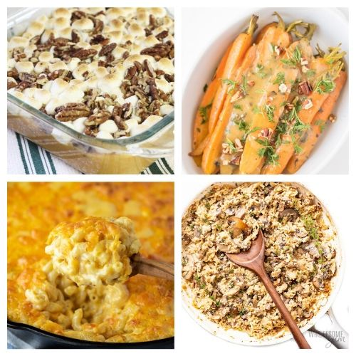 20 Delicious Holiday Side Dishes- Everyone in your family will be impressed by these delicious Christmas side dishes! They are easy to make and are sure to be a big hit! | Christmas dinner recipe, #Christmas #recipe #sideDishes #food #ACultivatedNest