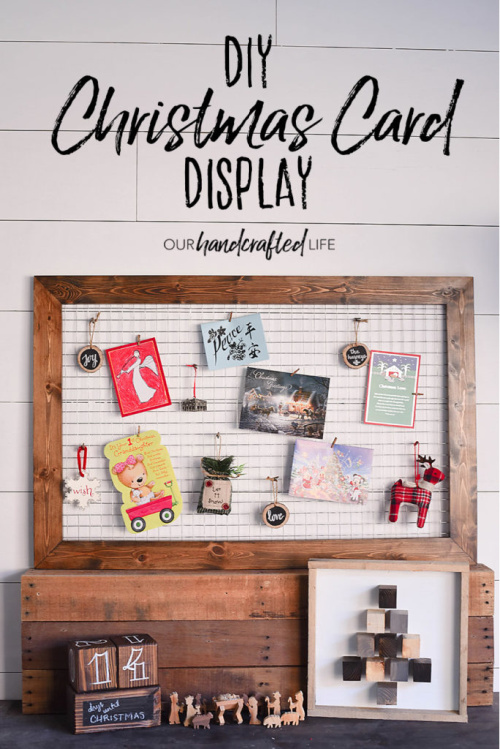 DIY Christmas Card Display Inspiration- Are you looking for ways to display that pile of Christmas Cards? Check out these cool Christmas card display holders! These are really great DIY Christmas projects that are suitable for people of all skill levels! | #Christmas #ChristmasCardDisplay #diy #ChristmasDecor #ACultivatedNest