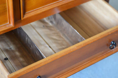 DIY Custom Drawer Divider- If you want to organize your bedroom on a budget, check out these 10 clever bedroom storage ideas! They'll make your bedroom inviting and so relaxing! | DIY organizers, DIY bedroom storage solutions, #organization #organizingTips #bedroomOrganization #organize #ACultivatedNest