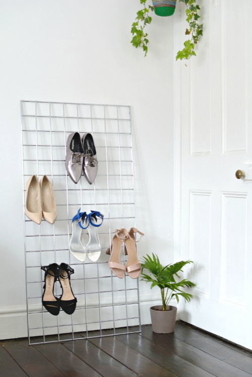 Shoe Organizer- If you want to organize your bedroom on a budget, check out these 10 clever bedroom storage ideas! They'll make your bedroom inviting and so relaxing! | DIY organizers, DIY bedroom storage solutions, #organization #organizingTips #bedroomOrganization #organize #ACultivatedNest