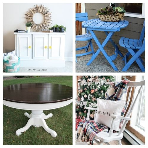 16 Inspiring DIY Furniture Makeover Ideas- All of these inspiring DIY furniture makeovers are a lovely way to breathe life back into old furniture. And they're easy to do! | thrift store makeover, painted furniture, #DIY #furnitureMakeover #decor #diyProject #ACultivatedNest