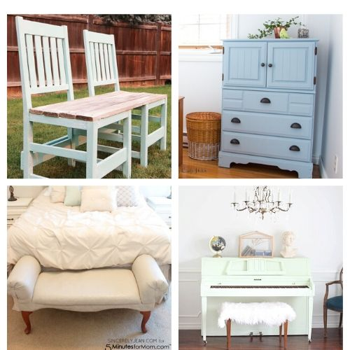 16 Furniture Makeover Decor Projects- All of these inspiring DIY furniture makeovers are a lovely way to breathe life back into old furniture. And they're easy to do! | thrift store makeover, painted furniture, #DIY #furnitureMakeover #decor #diyProject #ACultivatedNest