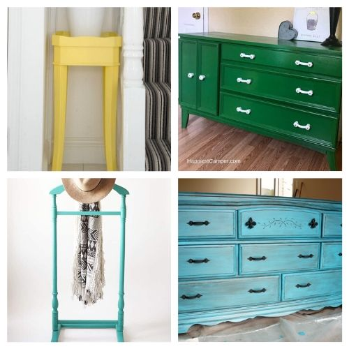 16 Inspiring Furniture Makeover DIY Projects- All of these inspiring DIY furniture makeovers are a lovely way to breathe life back into old furniture. And they're easy to do! | thrift store makeover, painted furniture, #DIY #furnitureMakeover #decor #diyProject #ACultivatedNest