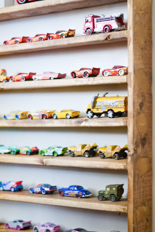 DIY Hot Wheels Storage- Tired of toys lying everywhere? You and your kids need these creative DIY toy storage ideas! They're easy to implement and look nice too! | kids room organization, kids playroom organization, how to organize kids toys, #toyStorage #toyOrganization #organizingTips #organization #ACultivatedNest