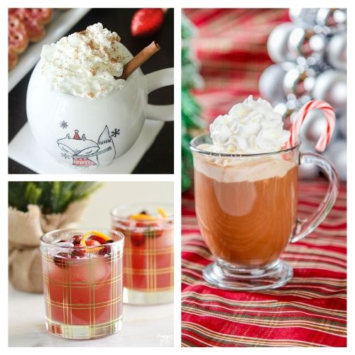 20 Christmas Drink Recipes- This is the ultimate list of easy and delicious Christmas drink recipes. Serve them at your next holiday party and everyone will rave about them for sure! | holiday drink recipes, nonalcoholic drinks, kid friendly drinks, hot drinks, cold drinks, #recipe #drinks #ChristmasDrinks #alcoholicDrinks #ACultivatedNest