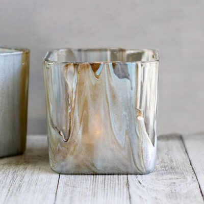 Stunning Poured Paint Votives