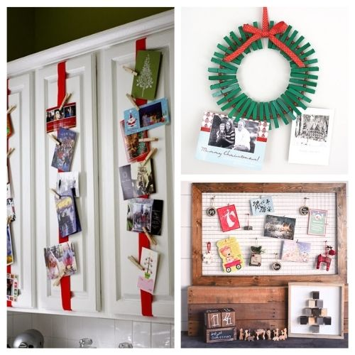 8 Creative Ways to Display Christmas Cards- Are you looking for ways to display that pile of Christmas Cards? Check out these cool Christmas card display holders! These are really great DIY Christmas projects that are suitable for people of all skill levels! | #Christmas #ChristmasCardDisplay #diy #ChristmasDecor #ACultivatedNest