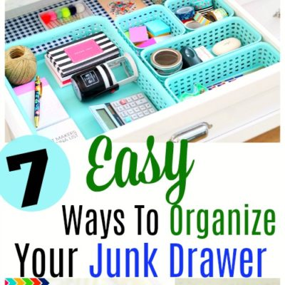 Easy Junk Drawer Organization Ideas. Sometimes the most disorganized area of a home is also the smallest. I'm talking about the junk drawer! Try these easy organization ideas. #organization #drawerorganization #kitchenorganization #organizedhome #homemaking