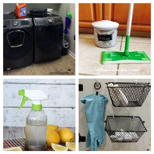 Clever Cleaning Hacks- Get your home in order the easy way with these 20 genius homemaking hacks and tips! These budget-friendly DIY solutions are what every busy homemaker needs! | #homemaking #cleaningTips #hacks #homemadeCleaner #ACultivatedNest