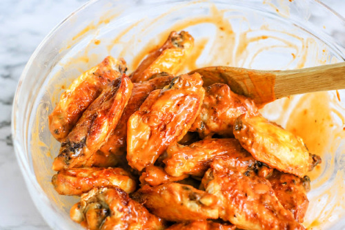 Easy Buffalo Chicken Wings- Every taste of these easy, drool-worthy air fryer buffalo chicken wings is better than the last. You'll be licking your fingers because they are so good! | #recipe #food #airFryer #chickenWings #ACultivatedNest