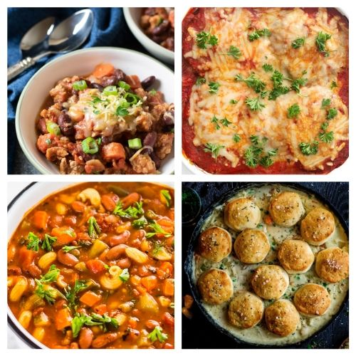 20 Hearty Warm Comfort Food Dishes for Winter- All of these delicious winter comfort food recipes are perfect for cold weather! They're warm, hearty, delicious, and sure to be a hit with your family! | cold weather food, hearty soups, stew recipes, casserole dinner ideas, #comfortFood #recipe #food #casserole #ACultivatedNest