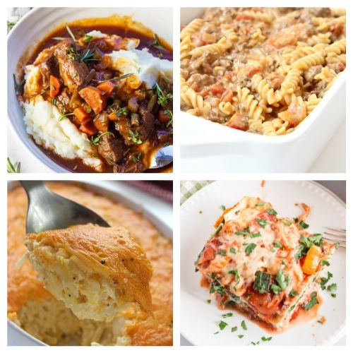 20 Winter Dinner Recipes- All of these delicious winter comfort food recipes are perfect for cold weather! They're warm, hearty, delicious, and sure to be a hit with your family! | cold weather food, hearty soups, stew recipes, casserole dinner ideas, #comfortFood #recipe #food #casserole #ACultivatedNest