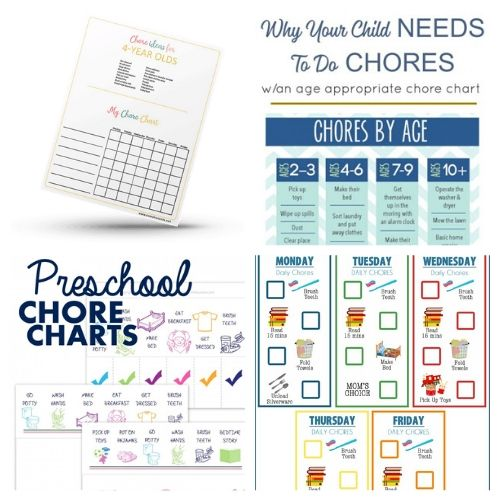 16 Fun Chore Charts for Preschool Kids- If you want to motivate your child to contribute and become responsible these 16 fun preschool chore charts are an easy way to do it! | #choreCharts #kidsChores #choreChartsForKids #chores #ACultivatedNest