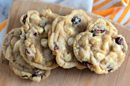 Easy White Chocolate Chip Cranberry Cookies- These delicious cranberry white chocolate chip cookies are mind-blowing good, are perfect for all occasions, and are super easy to make! | #cookies #dessertRecipes #desserts #recipes #ACultivatedNest