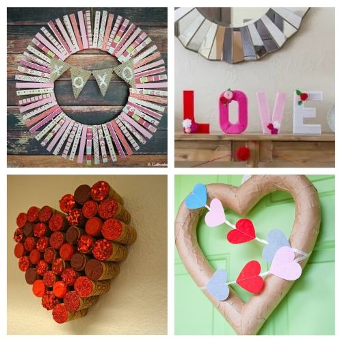 20 Fantastic Valentine's Day DIY Projects- If you're feeling crafty, take a look at these fantastic Valentine's Day DIY decor ideas! They will make your home look lovely! | #ValentinesDay #DIY #ValentinesDayDecor #craft #ACultivatedNest
