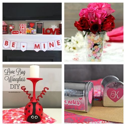 20 Valentine's Day Decoration Crafts- If you're feeling crafty, take a look at these fantastic Valentine's Day DIY decor ideas! They will make your home look lovely! | #ValentinesDay #DIY #ValentinesDayDecor #craft #ACultivatedNest