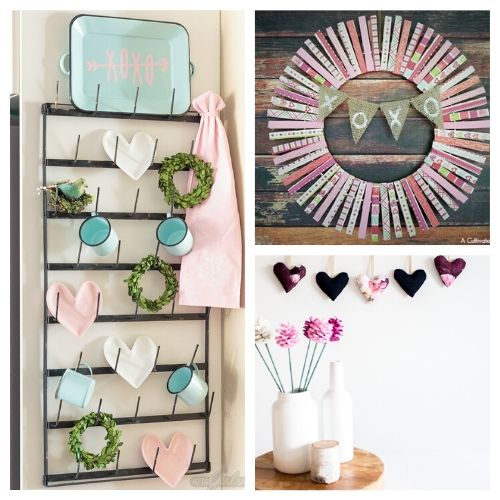 20 Fantastic Valentine's Day DIY Decor Ideas- If you're feeling crafty, take a look at these fantastic Valentine's Day DIY decor ideas! They will make your home look lovely! | #ValentinesDay #DIY #ValentinesDayDecor #craft #ACultivatedNest