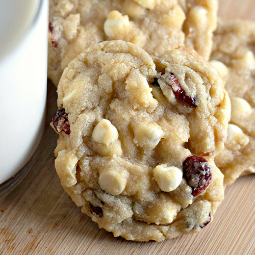 Delicious Cranberry White Chocolate Chip Cookies- These delicious cranberry white chocolate chip cookies are mind-blowing good, are perfect for all occasions, and are super easy to make! | #cookies #dessertRecipes #desserts #recipes #ACultivatedNest