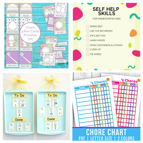 16 Fun Chore Charts for Young Kids- If you want to motivate your child to contribute and become responsible these 16 fun preschool chore charts are an easy way to do it! | #choreCharts #kidsChores #choreChartsForKids #chores #ACultivatedNest