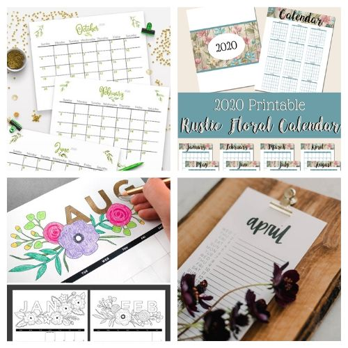 20 Free 2020 Calendar Printables- If you need a new calendar for 2020, you have to check out these 20 free printable 2020 calendars! There are so many fun and pretty designs to choose from! | #freePrintables #printableCalendar #printable #freePrintable #ACultivatedNest