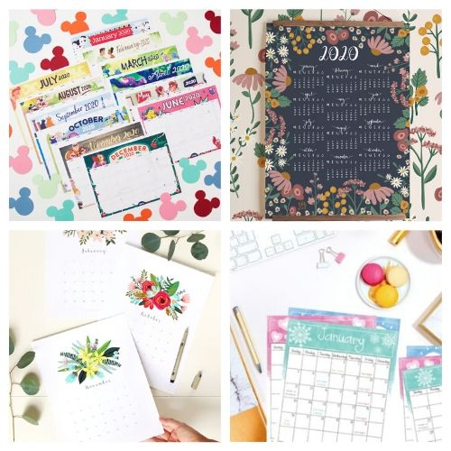 2020 Free Printable Calendars- If you need a new calendar for 2020, you have to check out these 20 free printable 2020 calendars! There are so many fun and pretty designs to choose from! | #freePrintables #printableCalendar #printable #freePrintable #ACultivatedNest