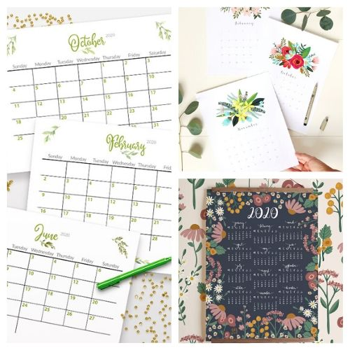 20 Free Printable 2020 Calendars- If you need a new calendar for 2020, you have to check out these 20 free printable 2020 calendars! There are so many fun and pretty designs to choose from! | #freePrintables #printableCalendar #printable #freePrintable #ACultivatedNest